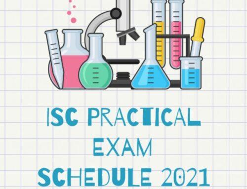 ISC practical Examination Schedule -2021