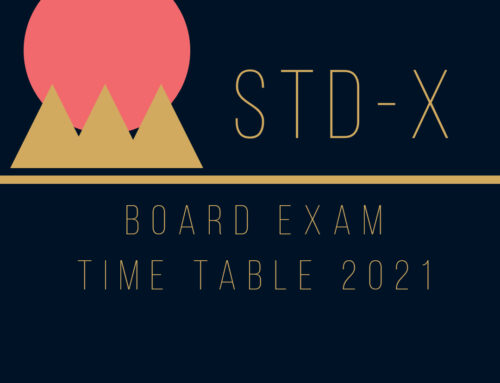 REVISED STD X – BOARD EXAM TIME TABLE – 2021